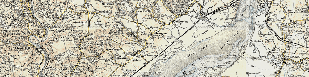 Old map of Alvington in 1899-1900