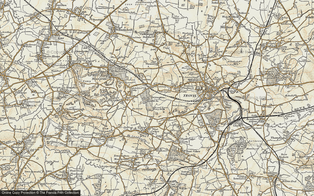 Old Map of Alvington, 1899 in 1899