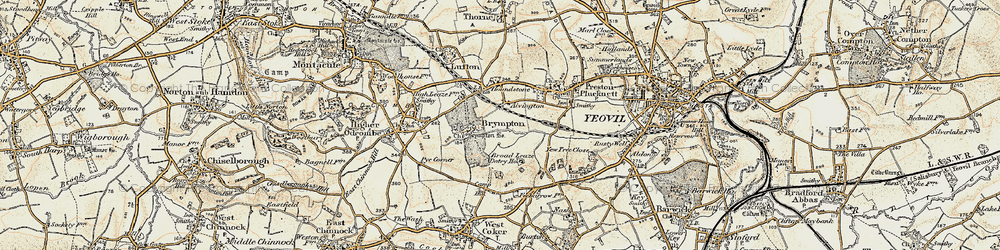Old map of Alvington in 1899