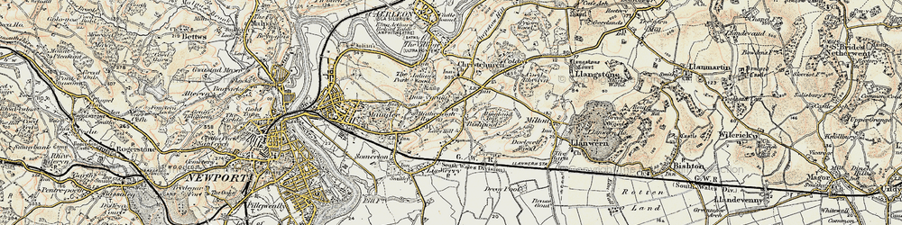 Old map of Alway in 1899-1900