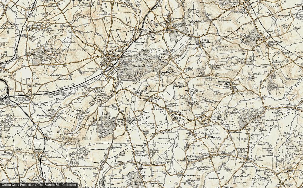 Old Map of Alweston, 1899 in 1899
