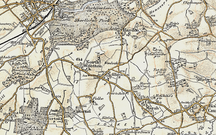 Old map of Alweston in 1899