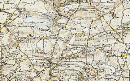 Old map of Wigton Moor in 1903-1904