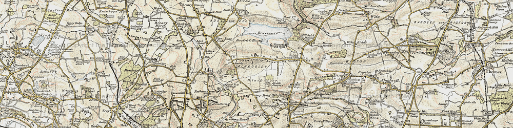 Old map of Alwoodley Park in 1903-1904