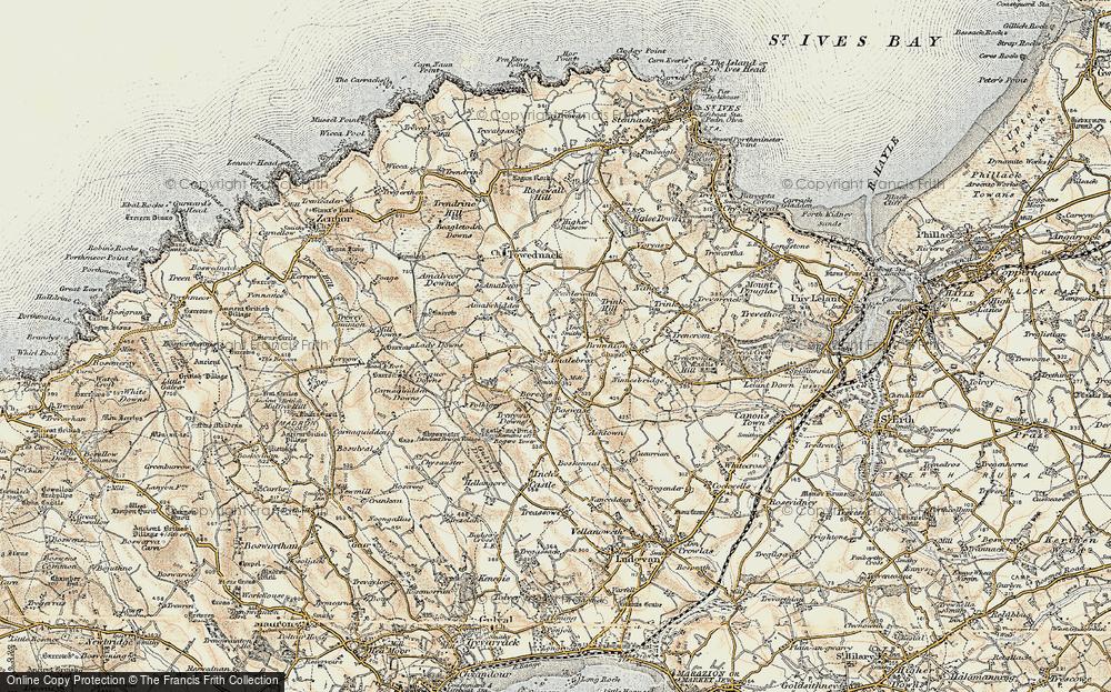 Old Map of Amalebra, 1900 in 1900