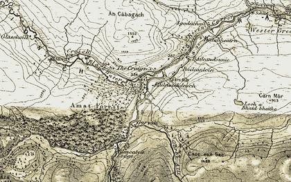 Old map of Amatnatua in 1908-1912
