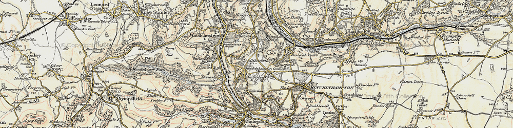 Old map of Amberley in 1898-1900