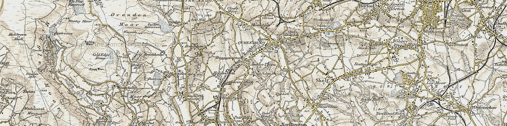 Old map of Ambler Thorn in 1903