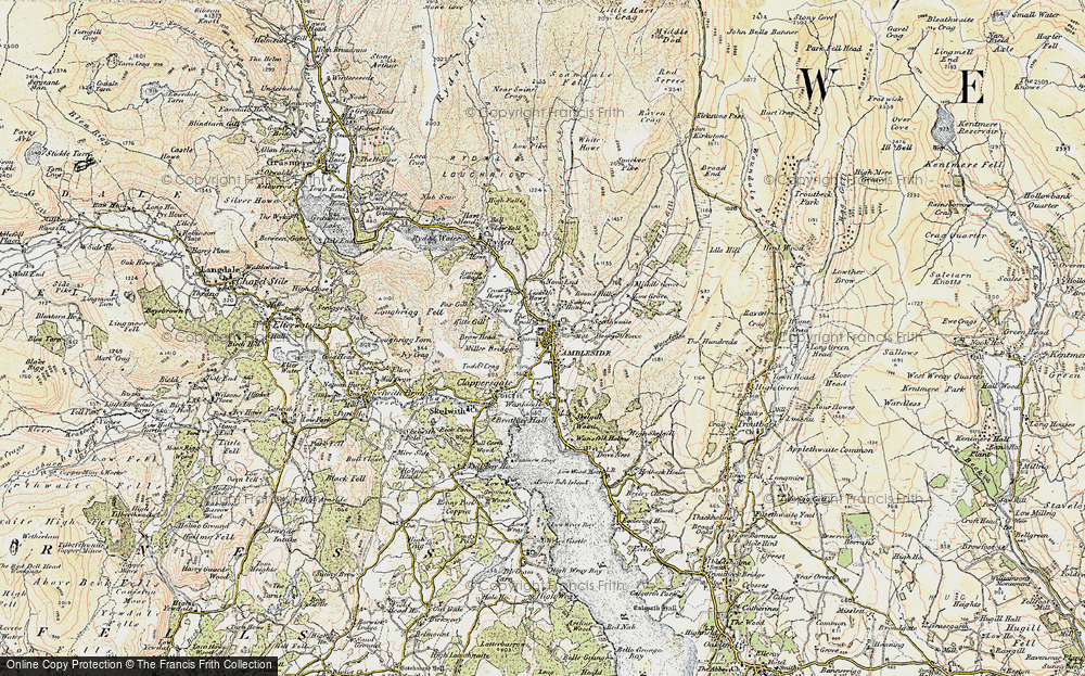 Old Map of Ambleside, 1903-1904 in 1903-1904