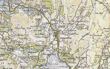 Old map of Ambleside in 1903-1904
