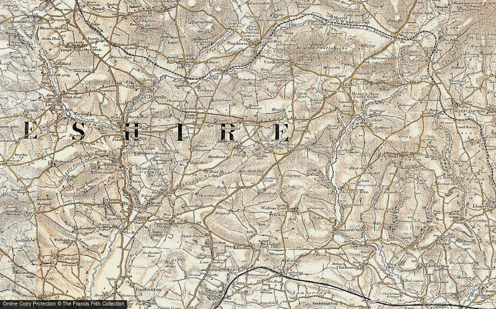 Old Map of Ambleston, 1901-1912 in 1901-1912