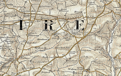 Old map of Ambleston in 1901-1912
