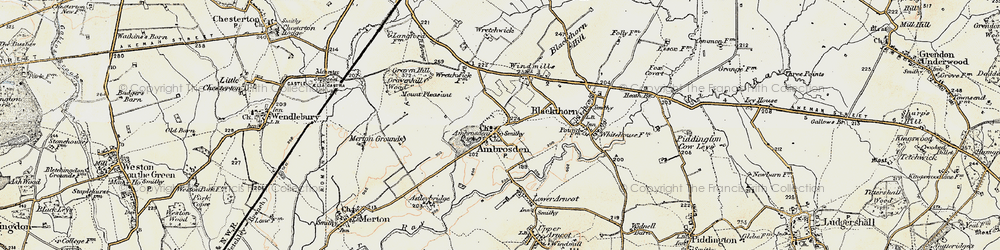 Old map of Ambrosden in 1898-1899