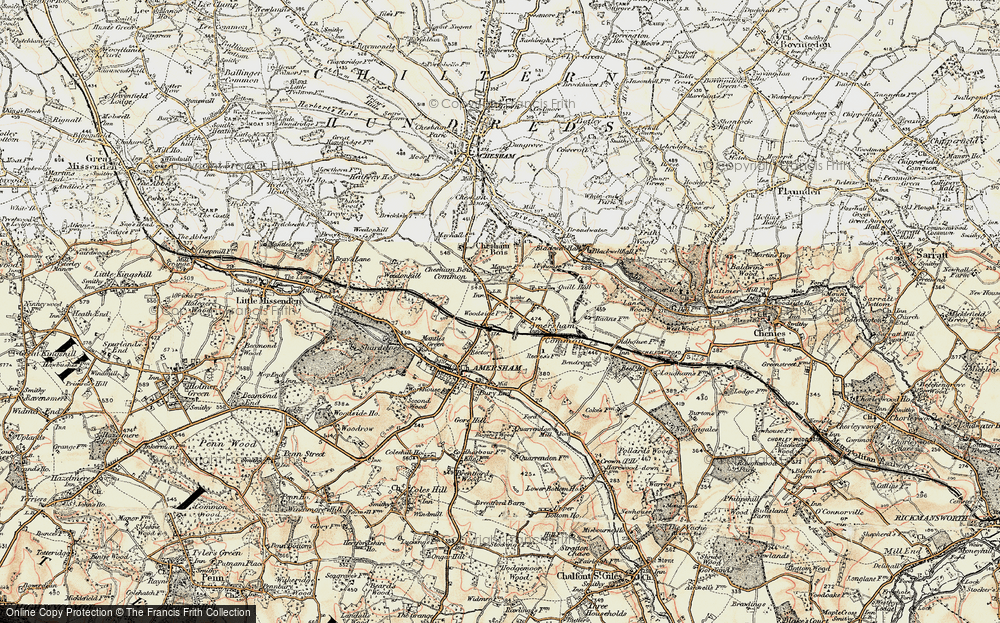 Old Map of Amersham, 1897-1898 in 1897-1898