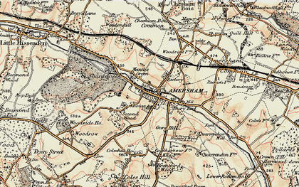 Old map of Amersham Old Town in 1897-1898