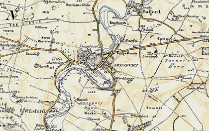 Old map of Amesbury in 1897-1899