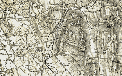 Old map of Back Hill in 1901-1905