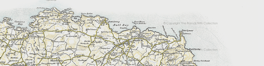 Old map of Amlwch in 1903-1910