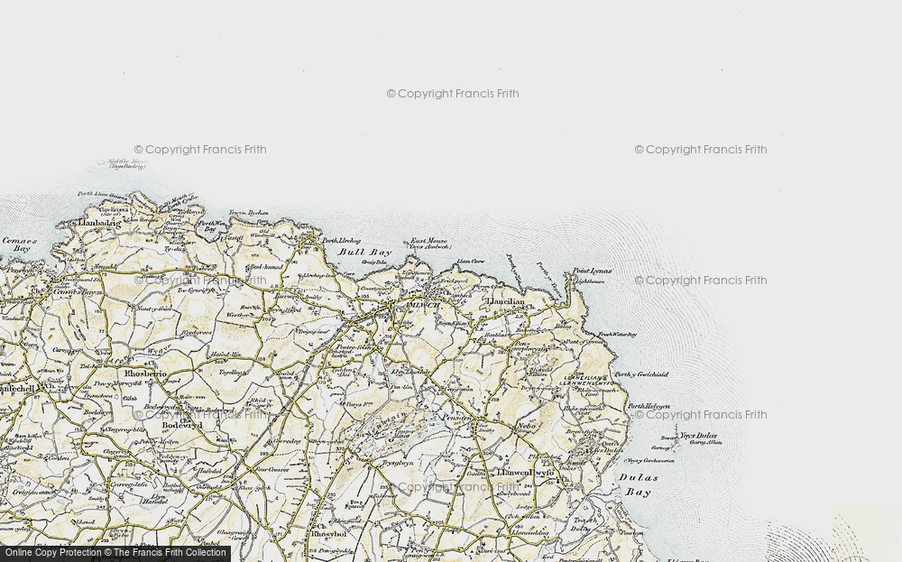 Old Map of Amlwch Port, 1903-1910 in 1903-1910