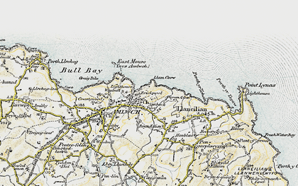 Old map of Amlwch Port in 1903-1910