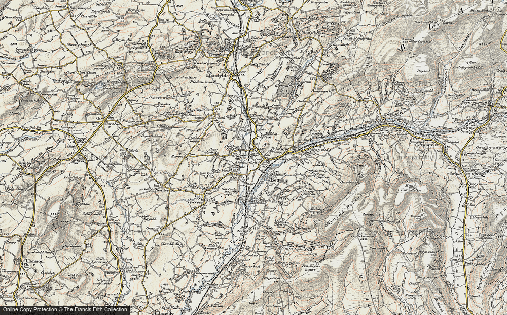 Old Map of Ammanford, 1900-1901 in 1900-1901