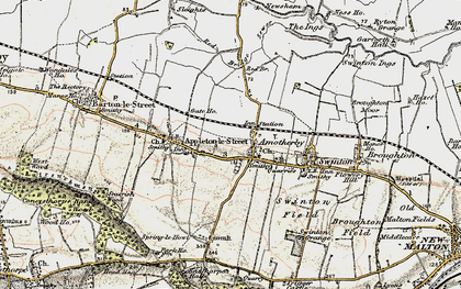 Old map of Amotherby in 1903-1904