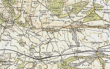 Old map of Ampleforth in 1903-1904