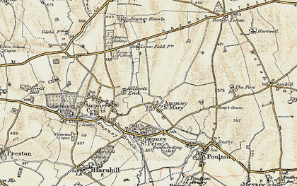 Old map of Ampney St Mary in 1898-1899