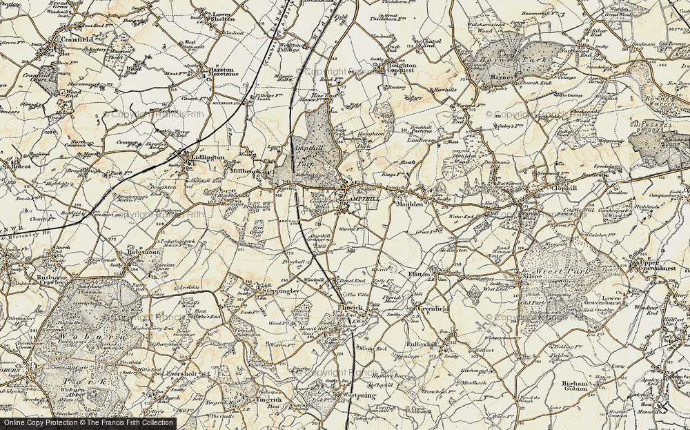 Old Map of Ampthill, 1898-1901 in 1898-1901