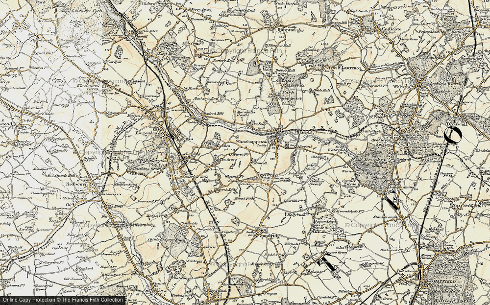 Old Map of Amwell, 1898 in 1898