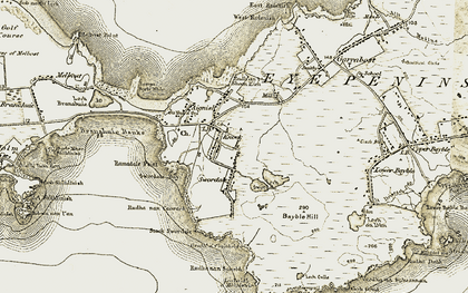 Old map of Bàgh Shuardal in 1909-1911