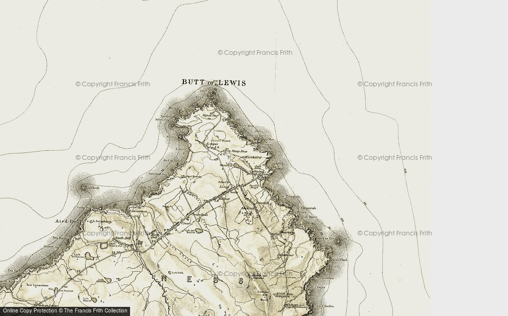 Old Map of Historic Map covering A' Beirghe in 1911