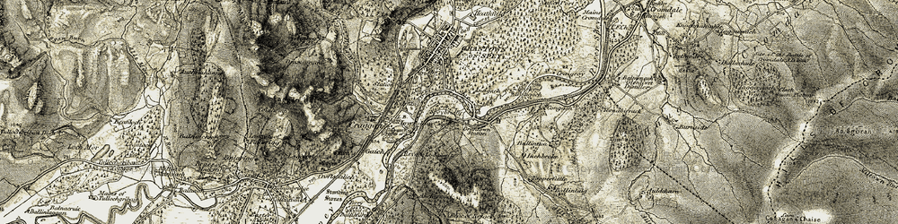 Old map of Anagach in 1908-1911