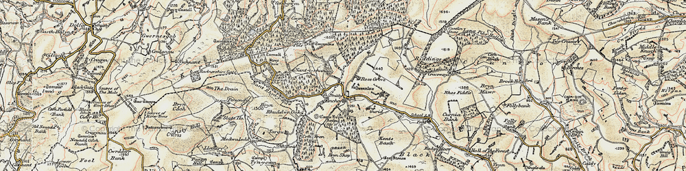 Old map of Y Drain in 1901-1903