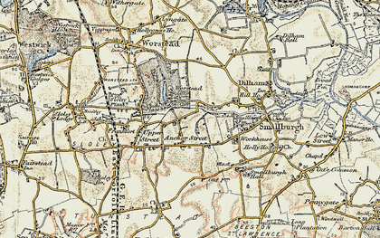Old map of Anchor Street in 1901-1902