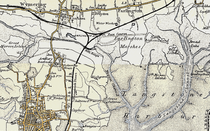 Old map of Anchorage Park in 1897-1899