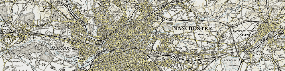 Old map of Ancoats in 1903