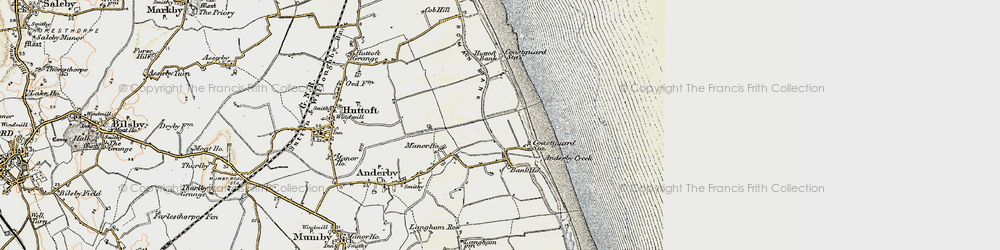 Old map of Anderby Creek in 1902-1903