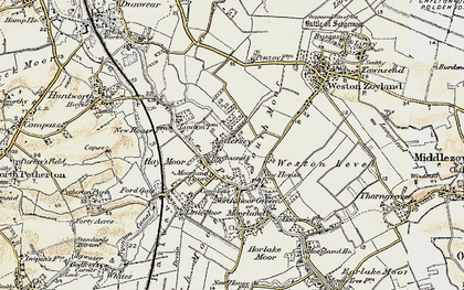 Old map of Andersea in 1898-1900