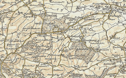 Old map of Andersfield in 1898-1900