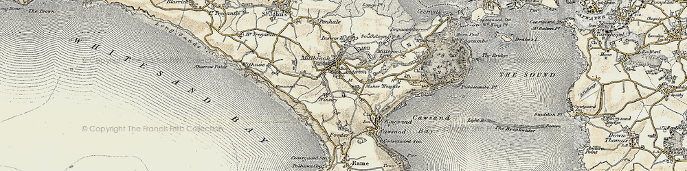 Old map of Wiggle in 1899-1900