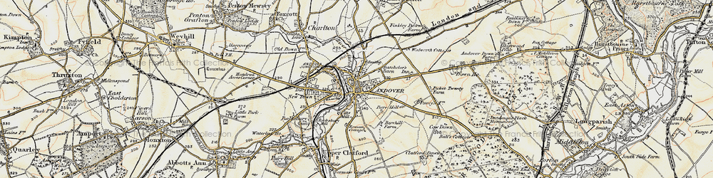 Old map of Andover in 1897-1900