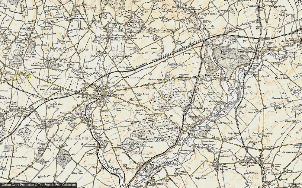 Old Map of Historic Map covering Balls Cotts in 1897-1900