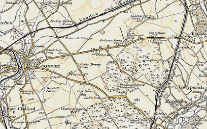 Old map of Balls Cotts in 1897-1900