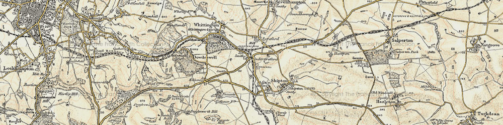 Old map of Andoversford in 1898-1900