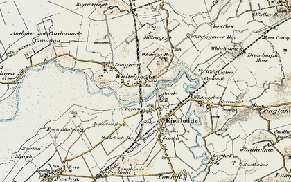 Old map of Whitrigg Ho in 1901-1904