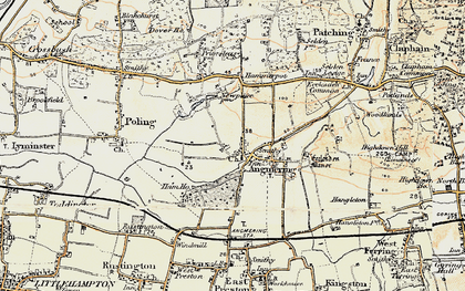 Old map of Angmering in 1897-1899