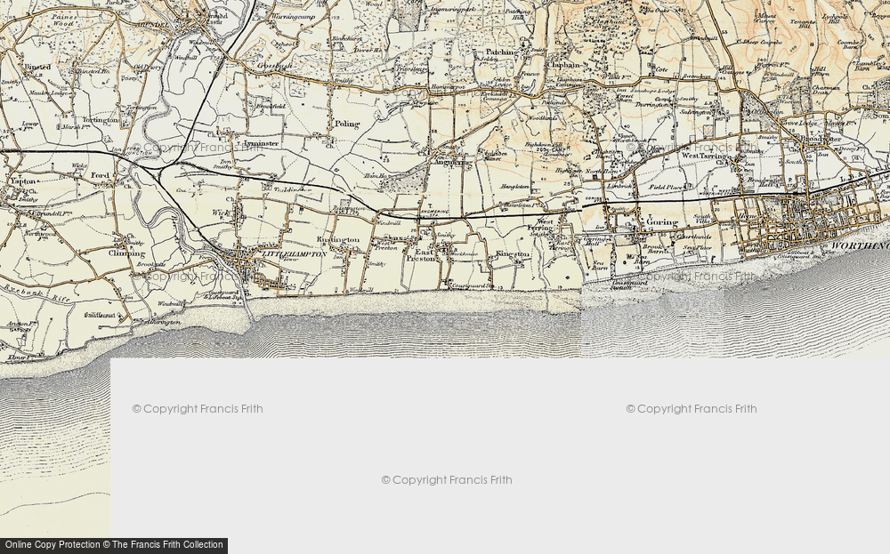 Old Map of Angmering-on-Sea, 1897-1899 in 1897-1899