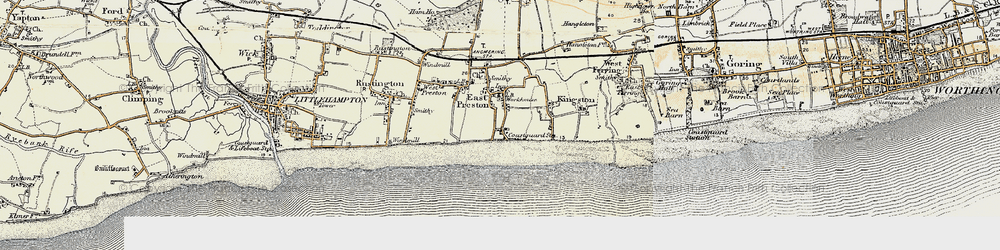 Old map of Angmering-on-Sea in 1897-1899