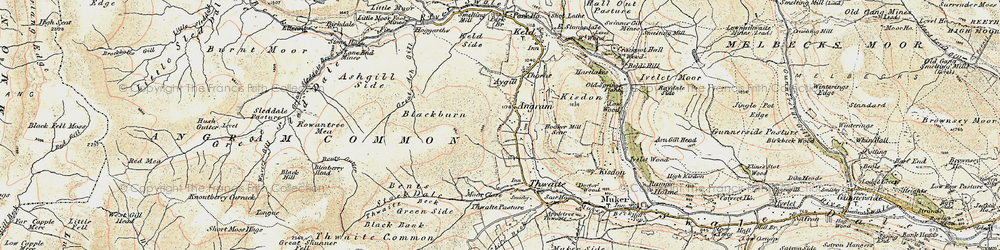 Old map of Thwaite Common in 1903-1904
